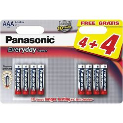 PANASONIC baterije LR03EPS/6BP 4+2F, Alkaline Everyday Power