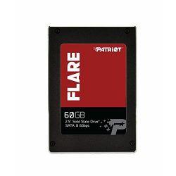 Patriot SSD Flare R555/W360, 60GB, 7mm, 2.5