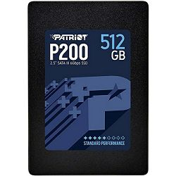 SSD Patriot P200 R530/W460, 512GB, 7mm, 2.5