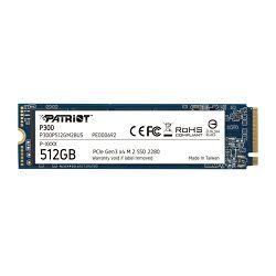 SSD Patriot SSD P300 R1700/W1200, 512GB, M.2 NVMe