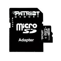 Patriot microSDHC, class10, 16GB, USB čitač