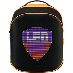 Prestigio LEDme MAX backpack, animated backpack with LED display, Nylon+TPU material, connection via bluetooth, Dimensions 42*31.5*20cm, LED display 64*64 pixels, orange color.