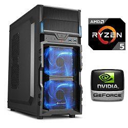 PC Računalo MagazinRS Ryzen (AMD 5 1400 3.2GHz, GTX 1060 6GB, 8GB DDR4 RAM, HDD 1TB, 120GB SSD, DVD-RW)