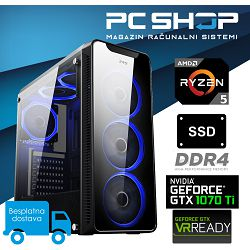 PC Računalo MagazinRS AMD (Ryzen 5 2600 3.4GHz, GTX 1070Ti, 8GB DDR4 RAM, SSD 240GB NVMe)