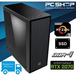PC Računalo MagazinRS AMD (Ryzen 5 2600 3.4GHz, RTX 2070, 8GB DDR4 RAM, SSD 240GB NVMe)