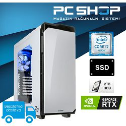 PC Računalo MagazinRS Coffee Lake (Intel i7 8700K 4.7GHz, RTX 2080, 16GB DDR4 RAM, HDD 2TB + SSD NVMe 240GB, DVD-RW)