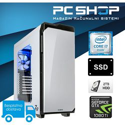 PC Računalo MagazinRS Coffee Lake (Intel i7 8700K 4.7GHz, GTX 1080TI 8GB, 16GB DDR4 RAM, HDD 2TB + SSD NVMe 240GB, DVD-RW)