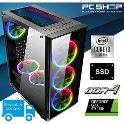 PC Računalo MagazinRS Gamer - Intel i3 10100f 4-core 4.3GHz (Boost), Nvidia GTX 1650, 8GB RAM, SSD 480GB