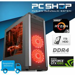 PC Računalo MagazinRS Gamer (Ryzen 5 1400 3.2GHz, GTX 1060, 8GB DDR4 RAM, HDD 1TB)