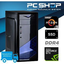 PC Računalo MagazinRS Gamer (Ryzen 5 1400 3.2GHz, GTX 1050TI, 8GB DDR4 RAM, SSD 240GB)