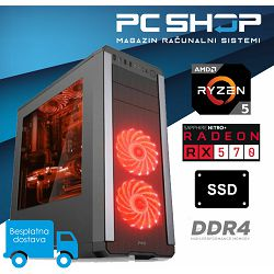 PC Računalo MagazinRS Gamer (Ryzen 5 1400 3.2GHz, Radeon RX 570, 8GB DDR4 RAM, SSD 240GB)
