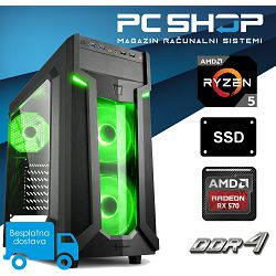 PC Računalo MagazinRS Gamer (Ryzen 5 1600 3.2GHz, AMD Radeon RX570, 8GB DDR4 RAM, SSD 480GB)
