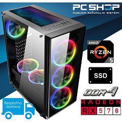 PC Računalo MagazinRS Gamer (Ryzen 5 1600 Six core 3.6GHz (Boost), Radeon RX570 8GB GDDR5, SSD 480GB, 16GB RAM)