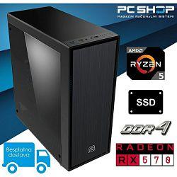 PC Računalo MagazinRS Gamer (Ryzen 5 1600 Six core 3.6GHz (Boost), RX 570, 8GB DDR4 RAM, SSD 240GB)