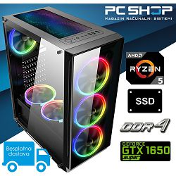 PC Računalo MagazinRS Gamer (Ryzen 5 1600 Six core 3.6GHz (Boost), Nvidia GTX 1650 Super, 16GB RAM, SSD 240GB, 1TB HDD)