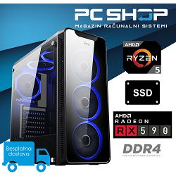 PC Računalo MagazinRS Gamer (Ryzen 5 2600 3.9GHz (Boost), Radeon RX 590, 16GB DDR4 RAM, SSD 240GB NVMe)