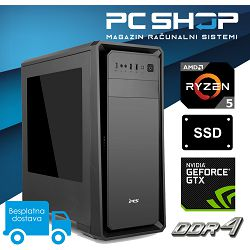 PC Računalo MagazinRS Gamer (Ryzen 5 2600 3.9GHz, GTX 1660, 8GB DDR4 RAM, SSD 480GB)