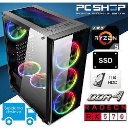 PC Računalo MagazinRS Gamer (Ryzen 5 2600 Six core 3.9GHz (boost), Radeon RX 570, 16GB RAM, SSD 240GB, 1TB HDD)