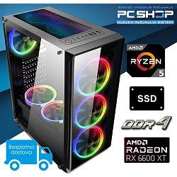 PC Računalo MagazinRS Gamer (Ryzen 5 3600 4.2GHz (Boost), Radeon RX 6600 XT, 16GB DDR4 RAM, SSD 480GB)
