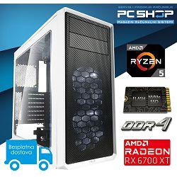 PC Računalo MagazinRS Gamer - Ryzen 5 3600 4.2GHz (Boost), Radeon 6700 XT, 16GB RAM, SSD NVMe 500GB