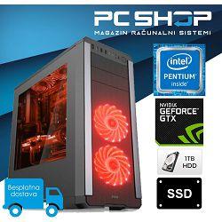 PC Računalo MagazinRS Kaby Lake (Intel G4560 3.5GHz, GTX 1050Ti 4GB, 8GB DDR4 RAM, HDD 1TB + 120GB SSD, DVD-RW)