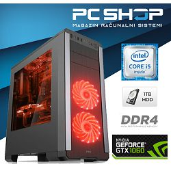PC Računalo MagazinRS Kaby Lake (Intel i5 7400 3.0 GHz, GTX 1060 3GB, 8GB DDR4 RAM, SSD 120GB, DVD-RW)