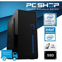 PC Računalo MagazinRS Radna Stanica (Intel i5 9400 2.9 / 4.1Ghz (Turbo), 16GB DDR4 RAM, HDD 1TB + SSD 120GB, DVD-RW)