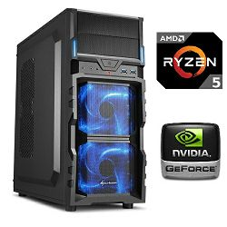 PC Računalo MagazinRS Ryzen (AMD 5 1400 3.2GHz, GTX 1060 3GB, 8GB DDR4 RAM, HDD 1TB, 120GB SSD, DVD-RW)
