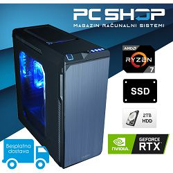 PC Računalo MagazinRS Ryzen (AMD 7 1700 3.0GHz, RTX 2080, 16GB DDR4 RAM, HDD 2TB + SSD 240GB)