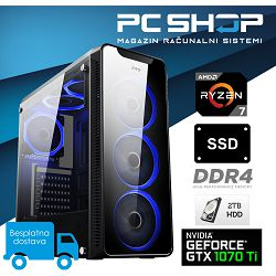 PC Računalo MagazinRS Ryzen (AMD 7 1700 3.0GHz, GTX 1070TI 8GB, 8GB DDR4, HDD 2TB, 240GB SSD)