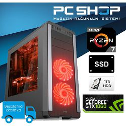 PC Računalo MagazinRS Ryzen (AMD 7 1700 3.0GHz / 3.7GHz (Turbo), GTX 1060 3GB, 8GB DDR4, HDD 1TB, 240GB SSD, DVD-RW)