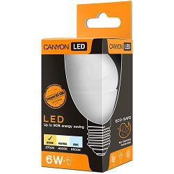 CANYON PE27FR6W230VW LED žarulja, P45 shape, milky, E27, 6W, 220-240V, 150°, 470 lm, 2700K, Ra>80, 50000 h