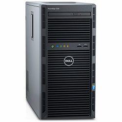 DELL EMC PowerEdge T130 w/ 4x 3.5in, Intel Xeon E3-1220 v6 3.0GHz, 8M cache, 4C/4T, turbo (72W), 8GB 2666MT/s DDR4, 1TB 7.2K RPM SATA 6Gbps 3.5in Cabled,  DVDRW, iDRAC8 Basic, FIPS TPM 2.0, On-Board L