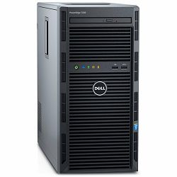 DELL EMC PowerEdge T130 SMART VALUE, 4x3.5 Cabled HDD, Intel Xeon E3-1230 v6 3.5GHz, 8M cache, 4C/8T, turbo (72W), 8GB UDIMM 2400MT/s, 2TB 7.2K RPM NLSAS 12Gbps, PERC H330 + RAID, iDRAC8 Basic, DVDRW,