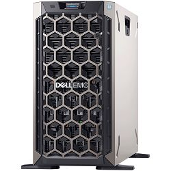 DELL EMC PowerEdge T340 w/8x3.5in, Intel Xeon E-2234 (3.6GHz, 8M cache, 4C/8T, turbo (71W)), 16GB 2666MT/s DDR4 ECC UDIMM, 1TB 7.2K RPM SATA 6Gbps 512n 3.5in Hot-plug, iDrac9, Basic, PERC H330 RAID, D