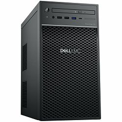 Tvrdi disk DELL EMC PowerEdge T40, BTX, 3x 3.5in, Intel Xeon E-2224G (3.5GHz, 8M cache, 4C/4T, turbo (71W), 8GB 2666MT/s DDR4 ECC UDIMM, 1TB 7.2K RPM SATA 6Gbps Entry 3.5in, 8x DVDRW 9.5mm, 3Y NBD