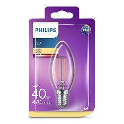 Philips LED žarulja, E14, B35, topla, 4W, prozir