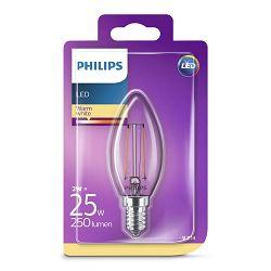 Philips LED žarulja, E14, B35, topla, 2W, prozir