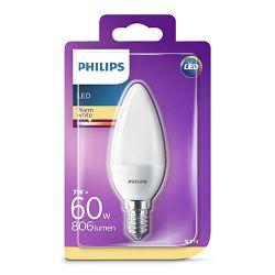 Philips LED žarulja, E14, B38 topla, 7W, matir