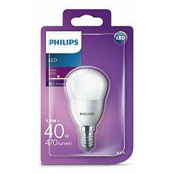 Philips LED žarulja, E14, P45, topla, 40W, mutna