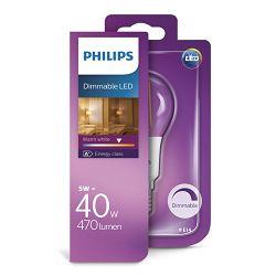 Philips LED žarulja, E14, P45, topla, 40W, gls,dim