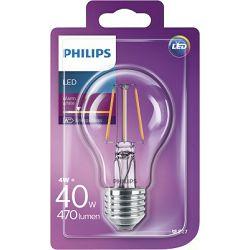 Philips LED žarulja, E27, A60, topla, 40W, prozirn