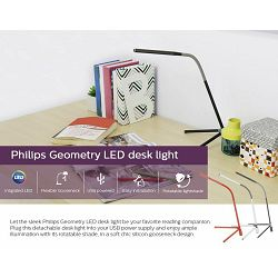 Philips stolna USB LED lampa Geometry, crna