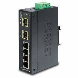 Planet ISW-621TF IP30 Slim Type 4P Industrial Ether Switch 2P SFP Fiber (-40 to 75C)