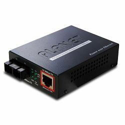 Planet 802.3af PoE 10 100TX - 100Base-FX (SC) Single Mode Fiber Converter - 15KM
