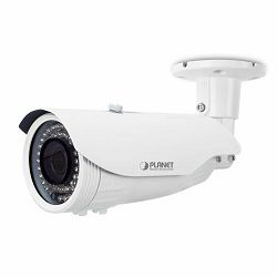 Planet H.265 4MP PoE Bullet IR IP Camera with Vari-focal Lens