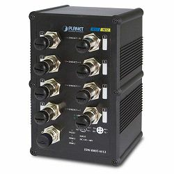 Planet Industrial 8-Port 10 100Mbps M12 Fast Ethernet Switch