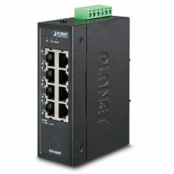 Planet Industrial 8-Port 10 100TX Compact Ethernet Switch