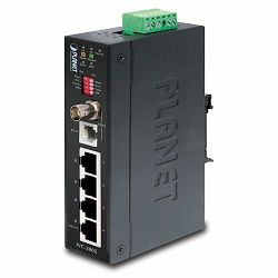 Planet Industrial 4P 100base-TX 1P BNC RJ-11 Ethernet Extender