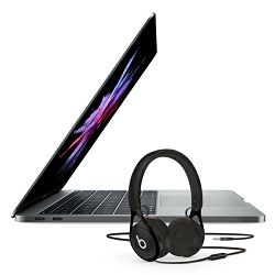 Laptop APPLE MacBook Pro 13 Retina mpxq2cr/a / DualCore i5 2.3GHz, 8GB, SSD 128 GB, Intel HD Graphics, HR tipkovnica, sivo + slušalice BEATS EP